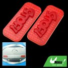 Rectangle Red Couple Motorcycle Car Reflector with Stop Sign (HL-6073)