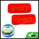 Red Rectangle Couple Car Motorcycle Stop Reflector Sign (HL-6073)