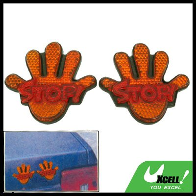 Palm Shaped Stop Sign Car Reflector (HL-6013)