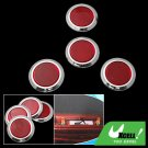 4 Pieces Red Round Car Reflector Set (HL-3003)