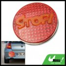 Round Red Stop Sign Bee Footprints Automobile Car Reflector