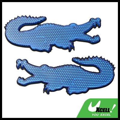 Blue Crocodile Shape Stick-on Car Reflectors Safety Pair