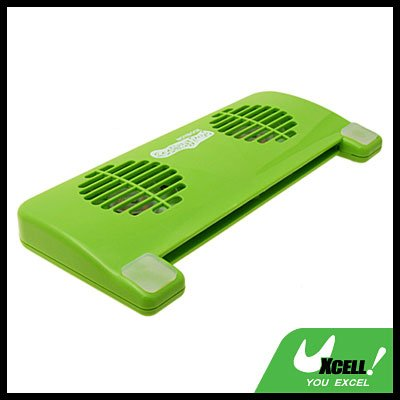 2 Fan Green USB Notebook Cooling Pad Cooler