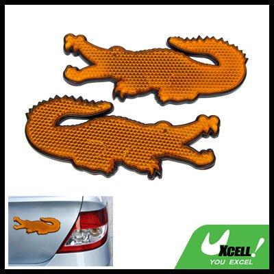 Crocodile Shape Stick-on Car Reflectors Safety Yellow