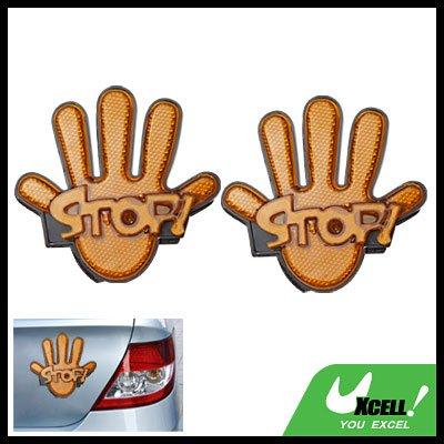 Palm Hand Shaped Stop Sign Car Back Light Reflector New