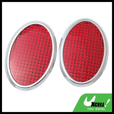 Red Stick-on Car Reflectors Motorcycle Scooter Safety