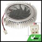 2.5mm 2pin Connector VGA Video Card Heatsinks Cooler Cooling Fan