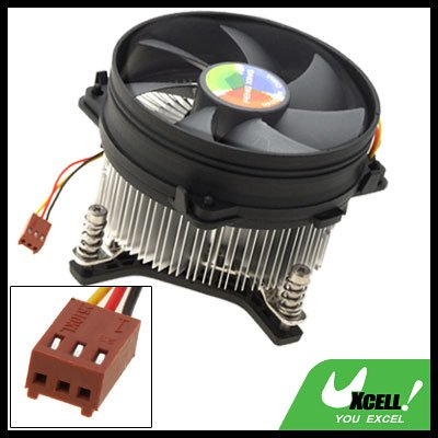 Portable Small Round Cooler Heatsink CPU Cooling Fan Black and White