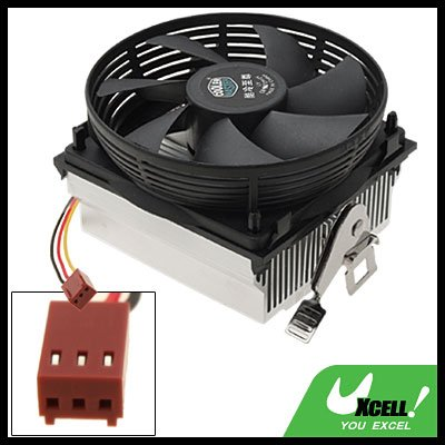 Portable Round Cooler Exhaust Blower Heatsink CPU Cooling Fan Black and White