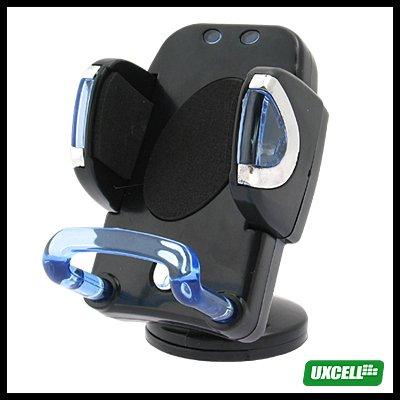 4 LED Flashing Car Mount Cell Phone iPod Nano Holder - Black