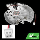Universal Aluminum VGA Video Card Heatsinks Cooler Cooling Fan for PC Computer
