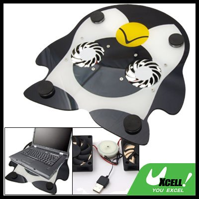 Penguin Cooler USB Power Cooling Pad 2 Fan for Laptop