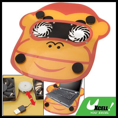 Cartoon USB 2 Fan Quiet Cooling Pad for Laptop Notebook