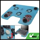 Face Painting Notebook USB Compact 3 Fan Cooling Cooler Pad