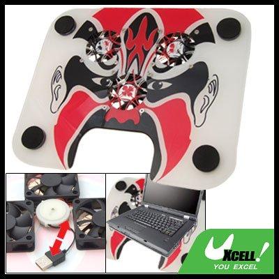 Chinese Beijing Opera Face 3 Fan USB Laptop Cooling Pad