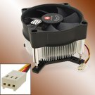 3 Pin CPU Cooler Heatsink Cooling Fan for Intel 775