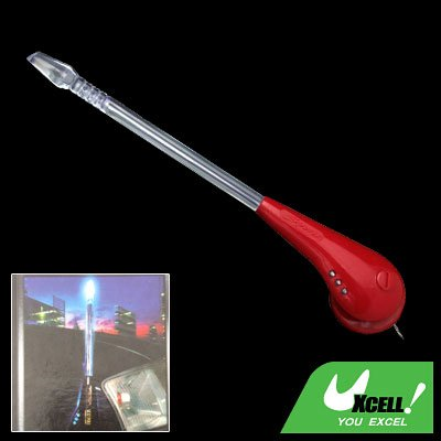 Car Auto Front Mount Decorative Colorful Flash Light Antenna Pole Red (XB-103)