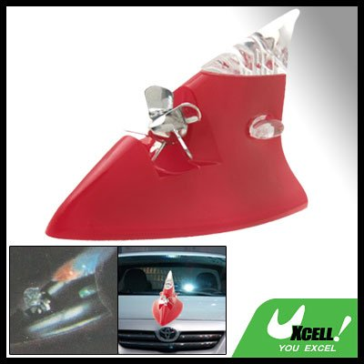 Wind Powered Red LED Light Antenna for Auto Car