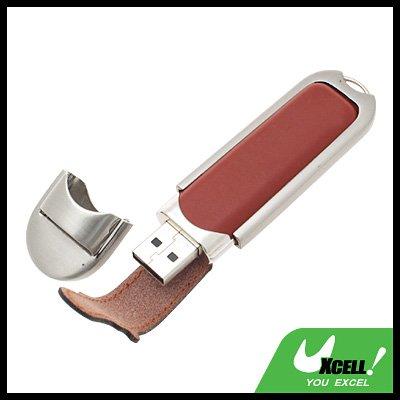 1GB USB 2.0 Flash Memory Stick Pen Drive - Brown & Silver