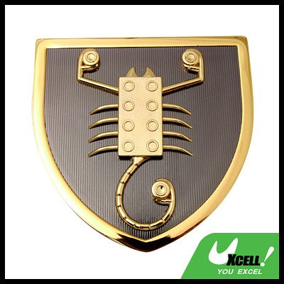 Car Accessories Golden Abstract Scorpion Car Badge