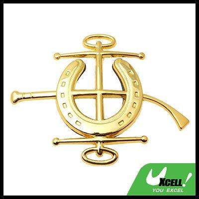 Car Accessories Jockey Car Badge Emblem Golden