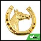 Car Accessories Horse Horseshoe Car Badge Emblem Golden