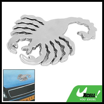 Silvery Scorpion Emblem Car Logo Badge Sticker