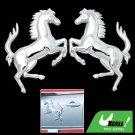 3D Horse Car Chrome Emblems Badges Stickers Silvery