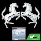 3D Horse Car Chrome Emblems Badges Stickers Silvery