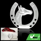 Silvery Car& Truck Decoration Logo Badge Sticker Horse Shaped