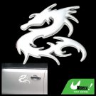 Silvery Dragon Car Decoration Logo Badge Sticker Truck