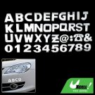 3D English Alphabet Digit Sticker Car Logo Badge Set