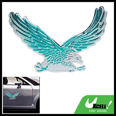 Silvery Green 3D Eagle Car Auto Badge Emblem Sticker