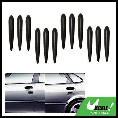 Black 12 Pieces Car Door Decorative Sticker Guard (YI-46)