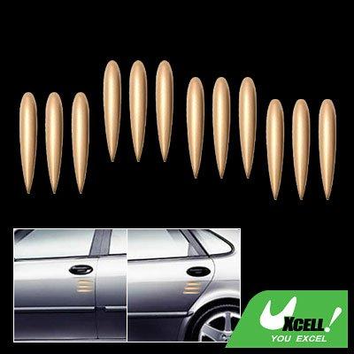 12 Pieces Copper-colored Car Door Decorative Sticker Guard