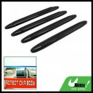 Black Car Body Door Bumper Guard Protector Set 4 Pieces (XB-036)