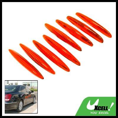 Glary Transparent Orange Car Door Guard Set 8 Pieces (LK-215)