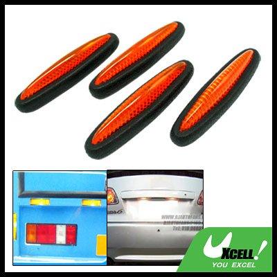 Orange and Black Car Door Guard 4 Pieces (LK-217)