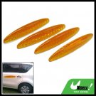 Glary Transparent Yellow Car Door Guard Set 4 Pieces (HL-6118)