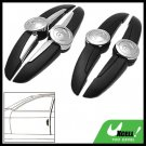 Decorative Black and Sliver Car Door Guard Protector
