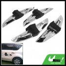 Sliver and Black Car Door Guard Protector 4 Pieces Set