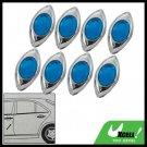 8 Pieces Blue Eyes Shaped Car Door Bumper Mirror Guard (GZ-086)