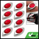 8 PCS Red Eyes Car Door Bumper Mirror Guard Protector
