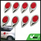 8 Pieces Red Dewdrop Shaped Car Door Bumper Mirror Guard (GZ-086)