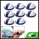 Mini Round Car Door Decorative Sticker Protector Guard Silvery and Purple 8PCS
