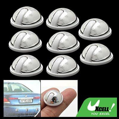 8 Piece Silvery Round Car Door Decorative Sticker Protect Guard