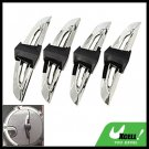 4 Pieces Decorative Car Door Guard Protector Silvery