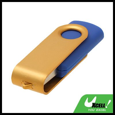 4GB Pocket Rotate USB Flash Memory Stick Drive Storage Golden