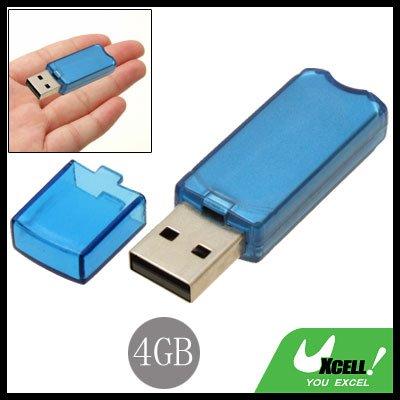Compact 4GB USB 2.0 Flash Memory Stick Pen Drive Blue