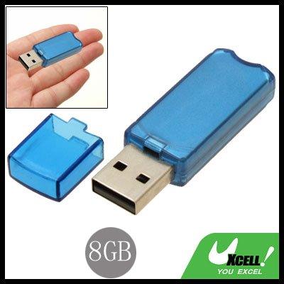 Portable 8GB USB 2.0 Flash Memory Pen Stick Drive Blue